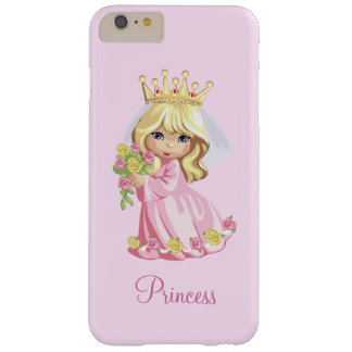 Pink Princess Personalized Barely There iPhone 6 Plus Case