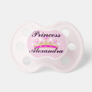 Pink Princess Personalized Pacifier