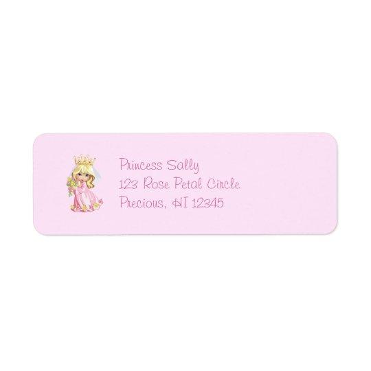Pink Princess Personalized Return Address Label