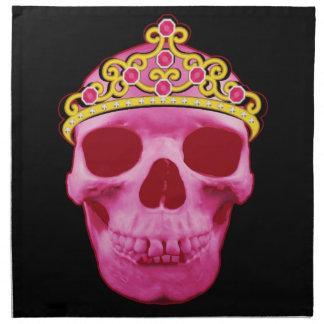 Pink Princess Skull Napkin