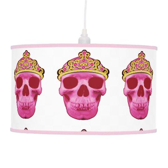 Pink Princess Skull Pendant Lamp