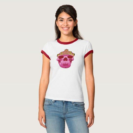 Pink Princess Skull T-Shirt