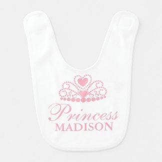 Pink Princess Tiaria Crown Bib