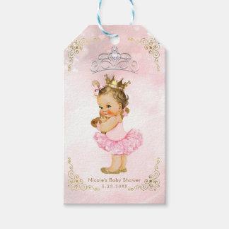 Pink Princess Vintage Baby Girl Shower Favor Gift Tags