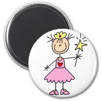 Pink Princess With Wand Magnet