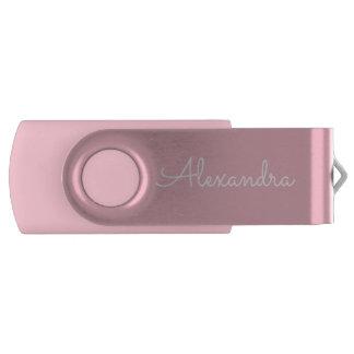 Pink Print Monogram USB Thumb Drive