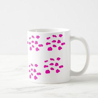 Pink print mug