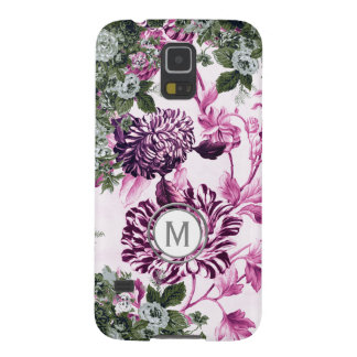 Pink Profusion Floral Garden Monogram Galaxy S5 Cover