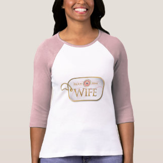 Pink Proud Army Wife T-Shirt