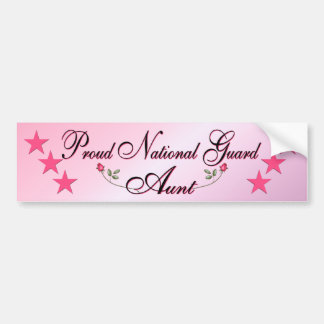 Pink & Proud National Guard Aunt Bumper Sticker