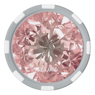 Pink Puerto Madero Filter Diamond Gem Stone Poker Chips