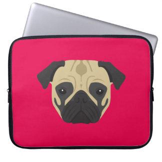 Pink Pug Laptop Sleeve