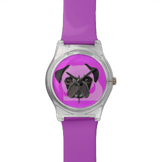 Pink Pug Watch