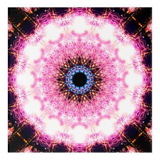 Pink Pulsar Mandala Acrylic Wall Art