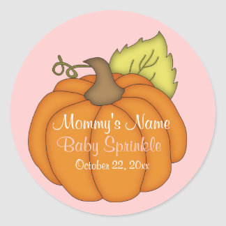 Pink - Pumpkin Baby Sprinkle Stickers