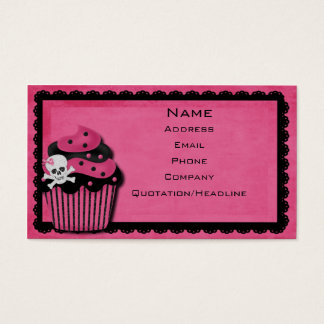 pink punk_cupcake business card