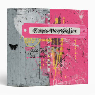 Pink Punk Portfolio 3 Ring Binder