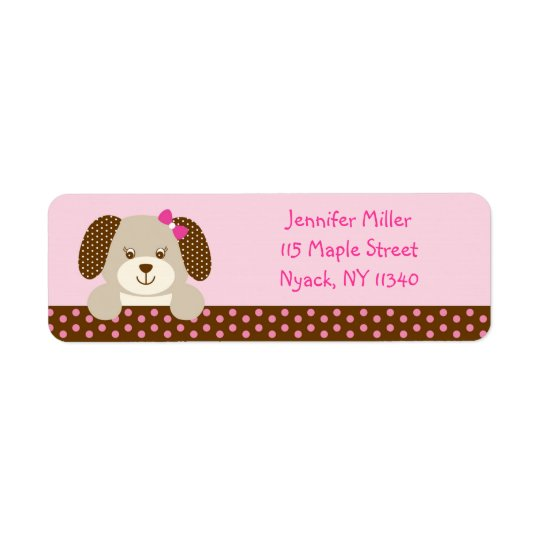 Pink Puppy Baby Shower Address
