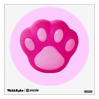 Pink Puppy Paw Wall Sticker