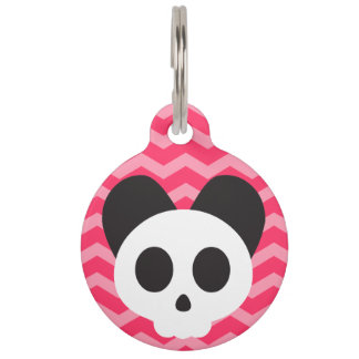 Pink Puppy Skull Pet ID Tag
