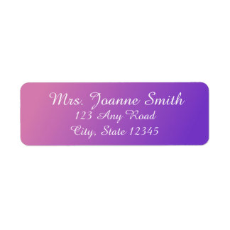 Pink/Purple Address Labels
