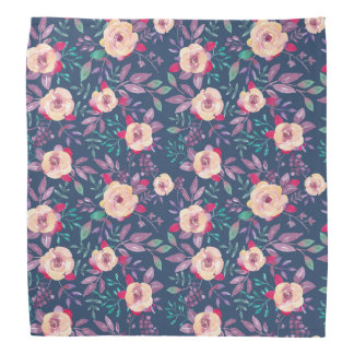 Pink Purple and Blue Floral pattern Bandanas