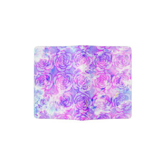 Pink, Purple, and Blue Floral Watercolor Pattern Passport Holder