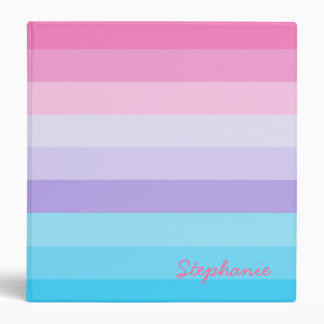 Pink, Purple, and Blue Ombre Binders