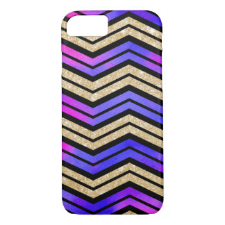 Pink, Purple and Gold Chevron iPhone 7 Case