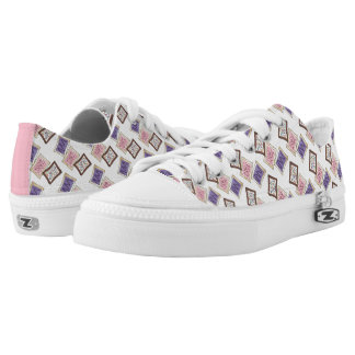 Pink Purple Bake Sale Toaster Pastry Breakfast Low-Top Sneakers