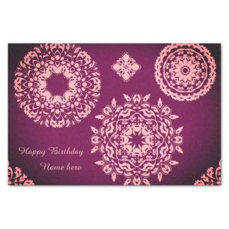 Pink purple birthday tissue paper