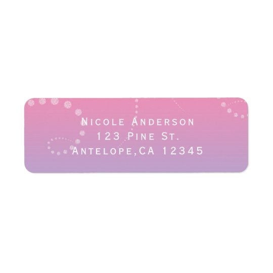 Pink Purple Blue Dipped Birthday Party Invitation