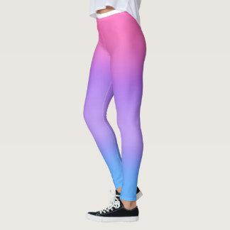 Pink Purple Blue Ombre' Leggings