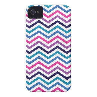Pink Purple Blue Zigzag Chevron iPhone 4 Case-Mate Cases