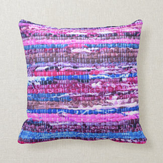 Pink - Purple Boho Yarn Throw Pillow