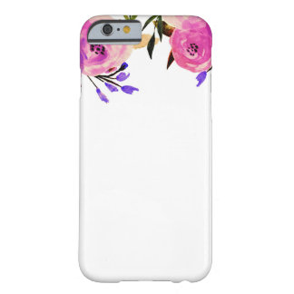 Pink Purple Bright Modern Chic Floral Barely There iPhone 6 Case