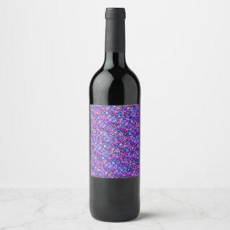 pink purple bubbles wine label