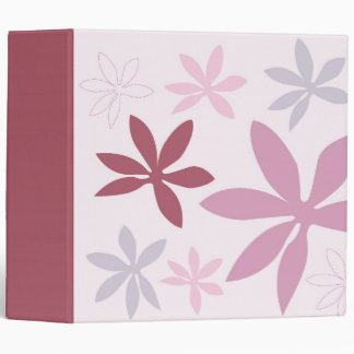 Pink, Purple & Burgundy Flower Petals 3 Ring Binder