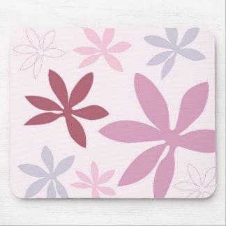 Pink, Purple & Burgundy Flower Petals Mouse Pad