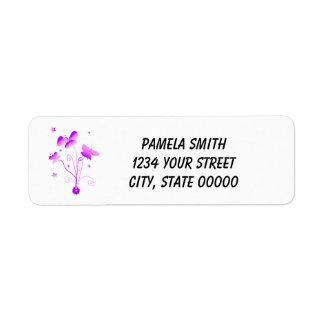 Pink Purple Butterfly Flower Star Personalize