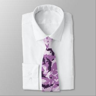 Pink & Purple Camouflage Background Tie