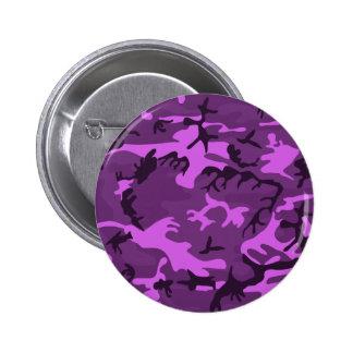 Pink purple camouflage style design 2 inch round button