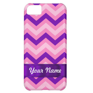 Pink & purple chevron cover for iPhone 5C