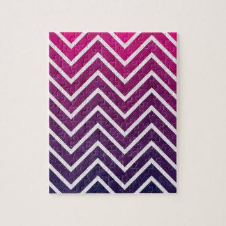 Pink Purple Chevron Jigsaw Puzzle