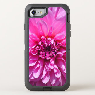 Pink Purple Dhalia Flower Otter Box OtterBox Defender iPhone 7 Case