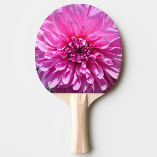 Pink Purple Dhalia Flower Ping Pong Paddles Ping-Pong Paddle
