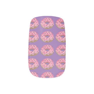 Pink Purple Donut Doughnut w/ Sprinkles Nail Decal