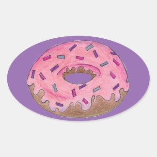 Pink/Purple Donut Doughnut w/ Sprinkles Sticker
