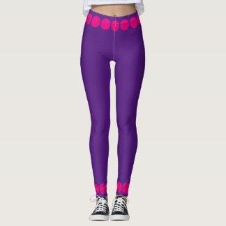 Pink Purple Dots 4Elise Leggings