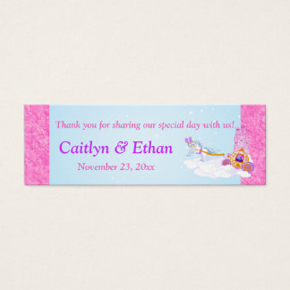 Pink, Purple Fantasy Fairy Tale Wedding Favor Tag Mini Business Card